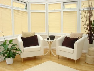 pleated blinds in conservatory