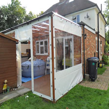 External Pvc Side Covers Sandhurst Berkshire